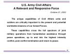 u s army civil affairs a relevant and responsive force