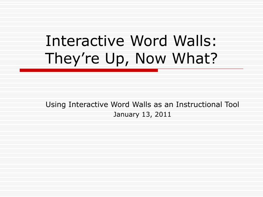 interactive word walls they re up now what l.