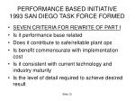 performance based initiative 1993 san diego task force formed