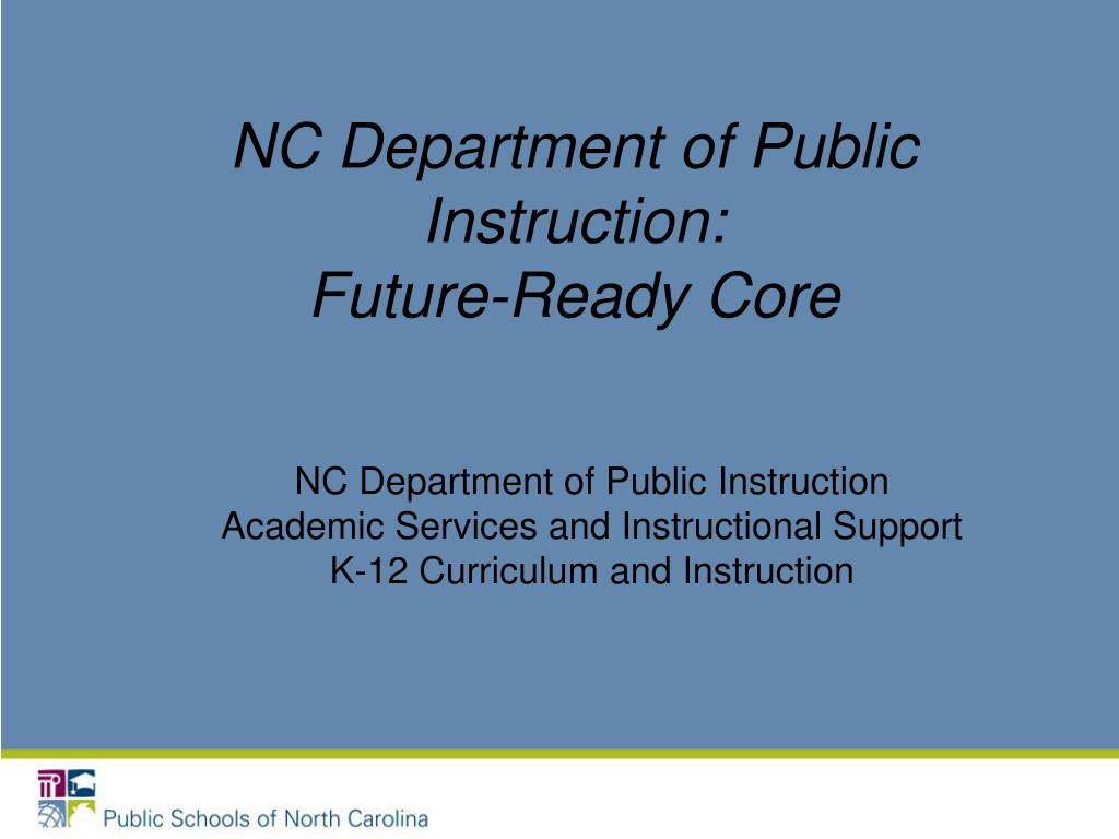 nc department of public instruction future ready core l.