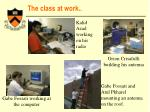 the class at work