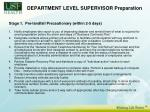 department level supervisor preparation13
