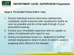 department level supervisor preparation14