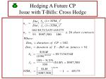 hedging a future cp issue with t bills cross hedge49