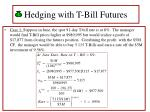 hedging with t bill futures35
