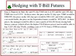 hedging with t bill futures38