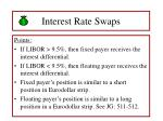 interest rate swaps58