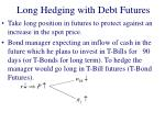 long hedging with debt futures