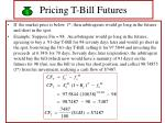 pricing t bill futures28