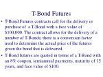 t bond futures