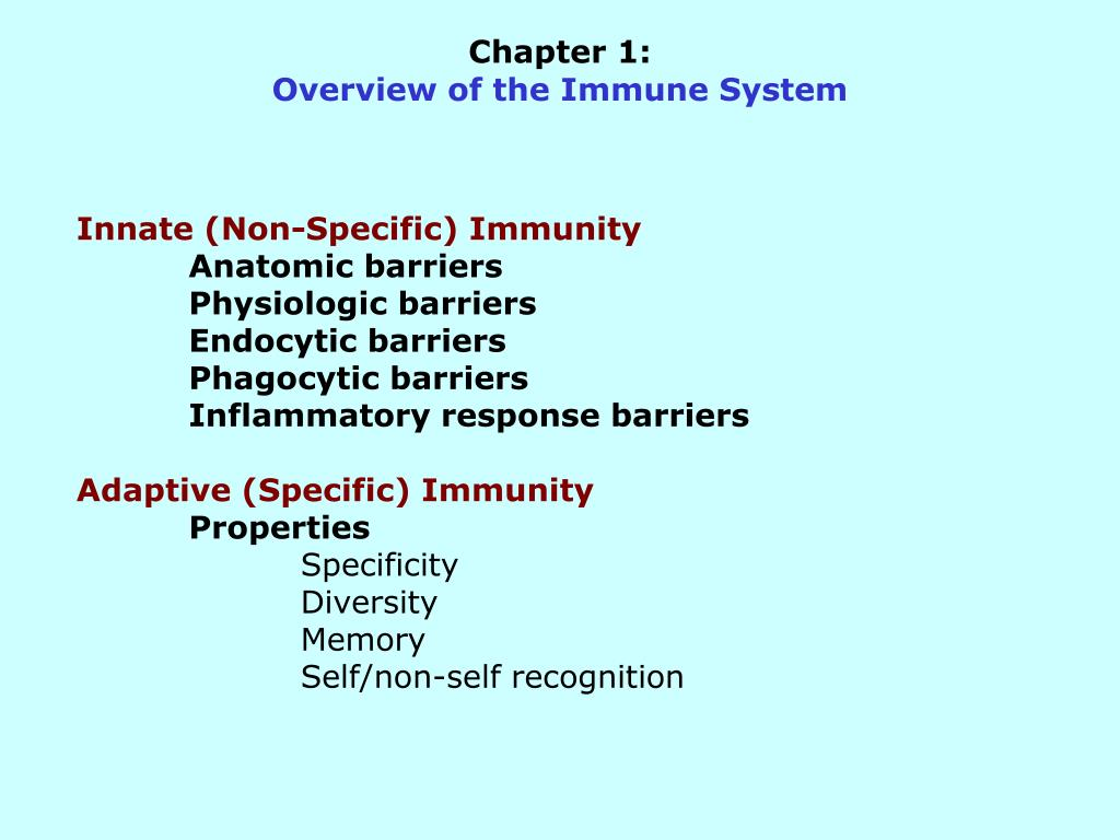 chapter 1 overview of the immune system l.