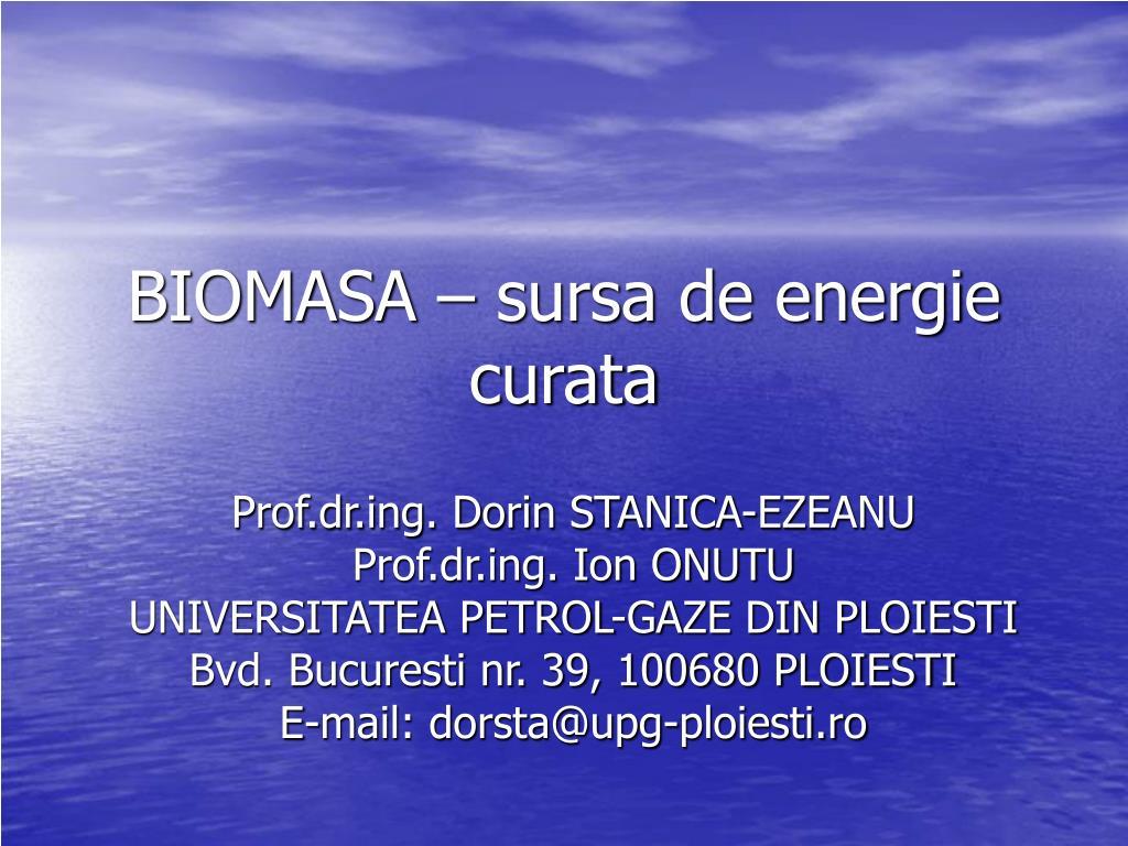 biomasa sursa de energie curata l.