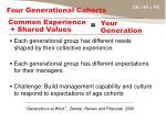 four generational cohorts