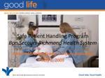 safe patient handling program bon secours richmond health system