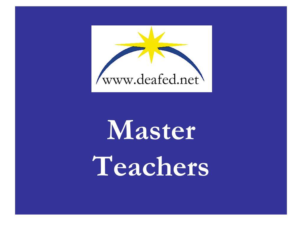 master teachers l.