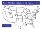 u s master teachers of the d hh