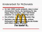 kinderarbeit f r mcdonalds