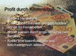 profit durch kinderarbeit