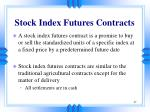 stock index futures contracts