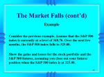 the market falls cont d