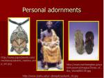 personal adornments