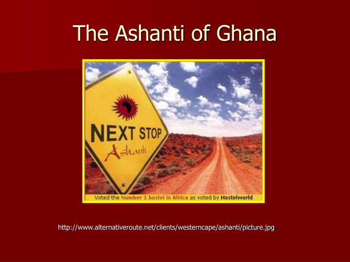 the ashanti of ghana n.