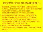 biomolecular materials