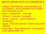 biotechnology in cosmetics