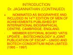 introduction dr jagannathan continued11