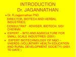 introduction dr jagannathan