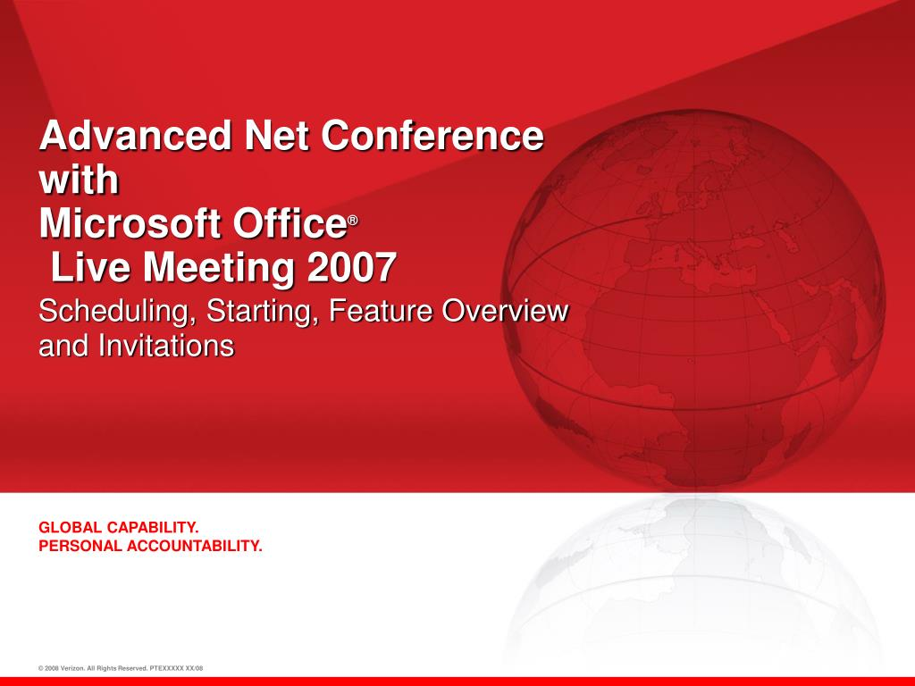 advanced net conference with microsoft office live meeting 2007 l.