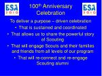 100 th anniversary celebration