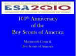 100 th anniversary of the boy scouts of america