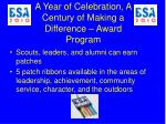 a year of celebration a century of making a difference award program