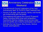 anniversary celebration weekend