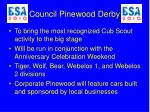 council pinewood derby