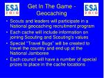 get in the game geocaching