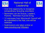 national hall of leadership