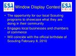window display contest
