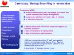 case study backup smart way in remote sites