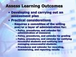 assess learning outcomes