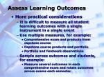 assess learning outcomes34