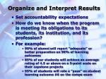 organize and interpret results37