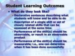 student learning outcomes17