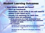 student learning outcomes18