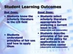 student learning outcomes20