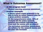 what is outcomes assessment7
