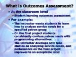what is outcomes assessment8