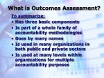 what is outcomes assessment9