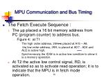 mpu communication and bus timing36